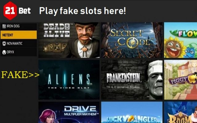 21Bet fake slots Netent's Aliens