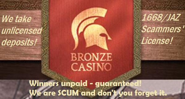 bronze casino scam you must avoid!